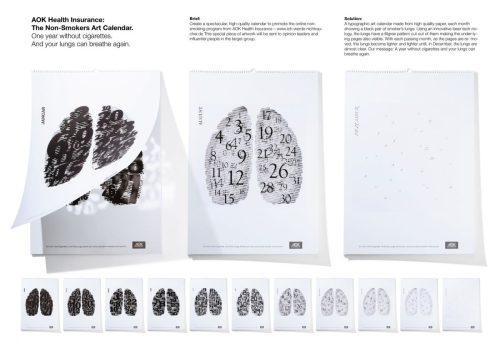 AOK Health Insurance The Non-Smokers-Art Calendar