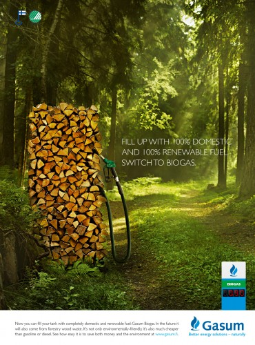 Gasum Biogas: Hay, Loo, Wood