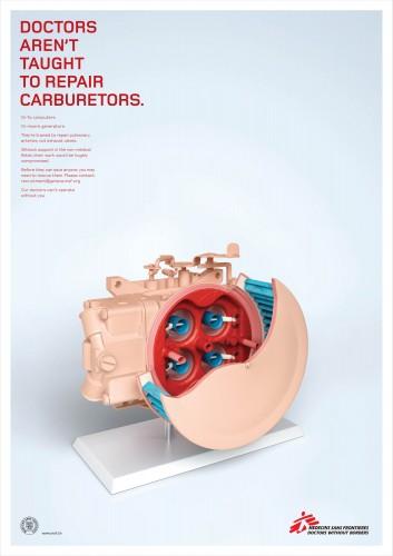 Medicins Sans Frontiers: Filing Cabinet, Tap, Fuse Box, Carburetor