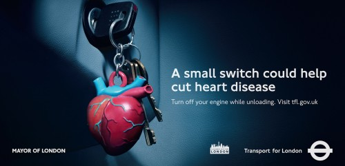 Transport for London: No Idling Inhaler, No Idling Heart, No Idling Lungs