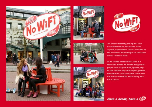 Kit Kat: Free No-WiFi Zone