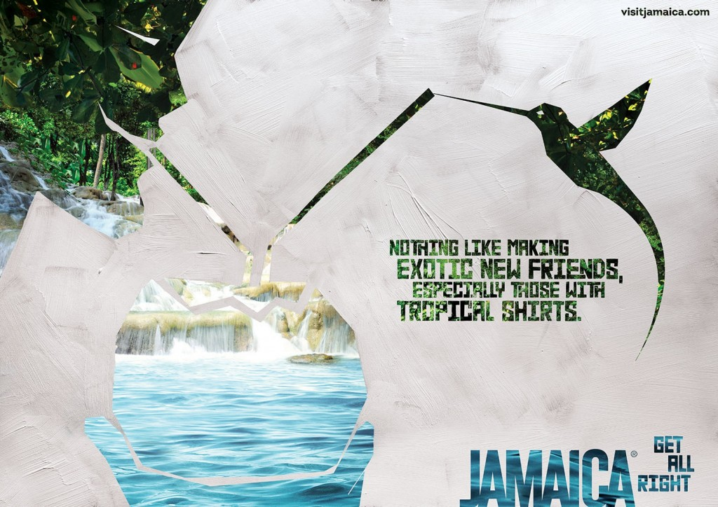 Jamaica Tourist Board: Wedding, Chciken, Bikini, Scuba, Waterfall