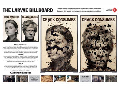 Partnership Against Drugs: The Larvae Billboard