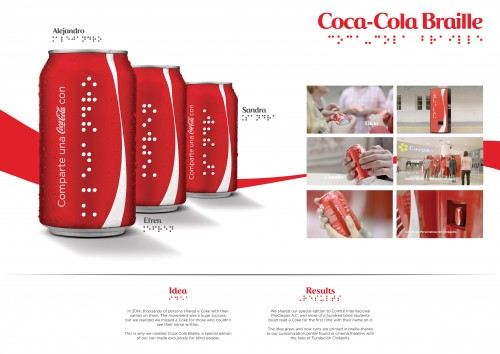 Coca-Cola : Coca-Cola Braille
