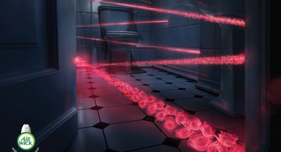 Airwick with motion sensor: Laser roses