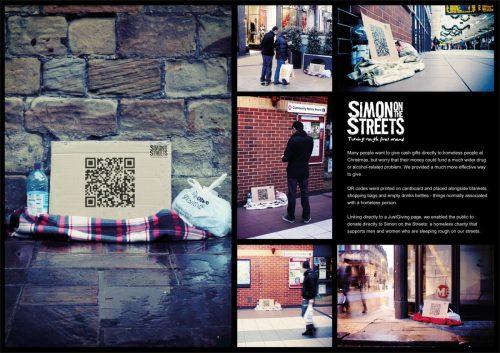 Simon on the Streets QR codes