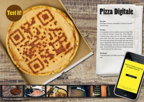 Scholz & Friends Hamburg Recruiting: Pizza Digitale