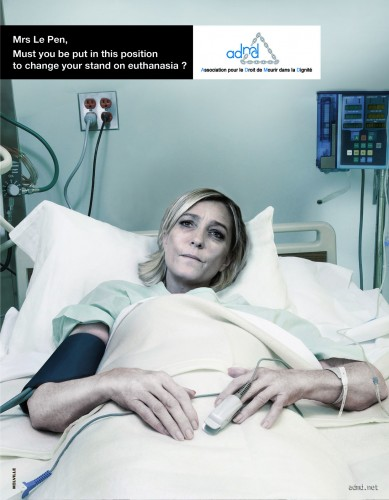 ADMD (French association for the right to die with dignity): Sarkozy, Le Pen, Bayrou
