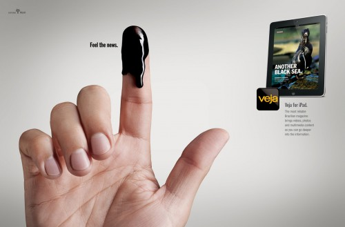 Veja for iPad: Fingers Water, Fingers Blood, Fingers Oil