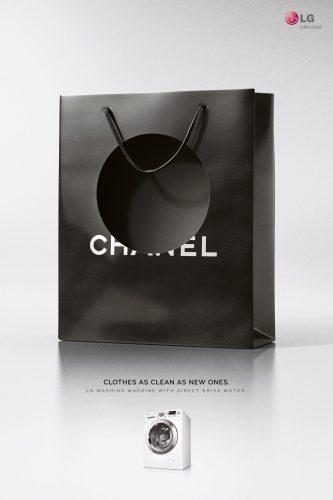 LG Washing Machine: Lacoste Bag, Gucci Bag, Chanel Bag