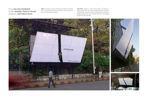 Mumbai Traffic Police: Falling Hoarding
