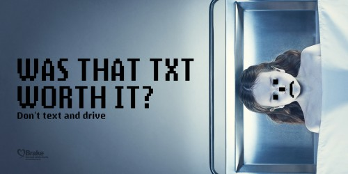 Brake: Don't Text And Drive