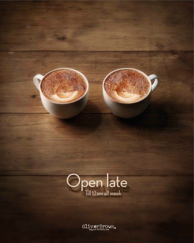 Oliver Brown Cafe: Open Late