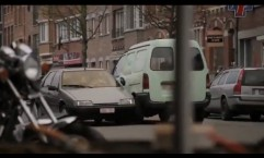 AXA: Crazy driver on a market day