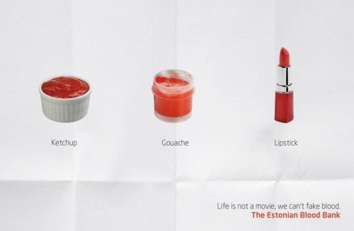 """The Estonian Blood Bank: """"Need your blood, 1"""""""