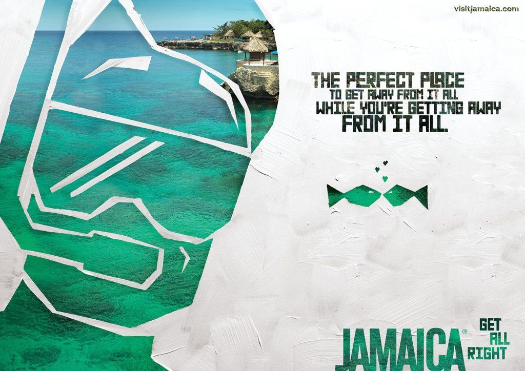 Jamaica Tourist Board: Wedding, Chciken, Bikini, Scuba, Waterfall
