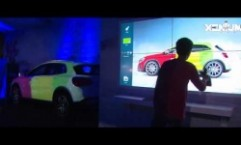Mercedes Benz: Virtual Graffiti with Real Time Projection